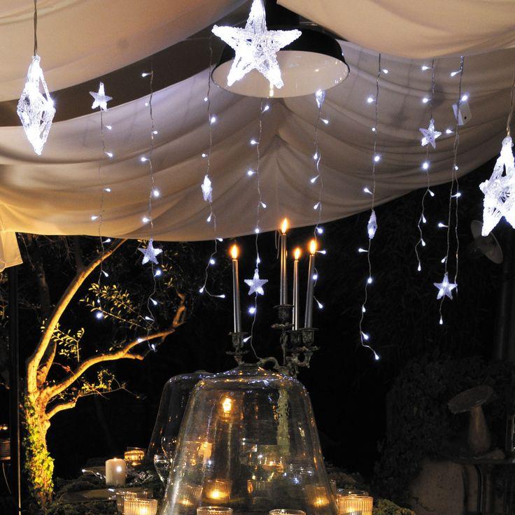 Guirlande lumineuse rideau d'étoiles blanches 150cm STAR (Blachere Illumination)