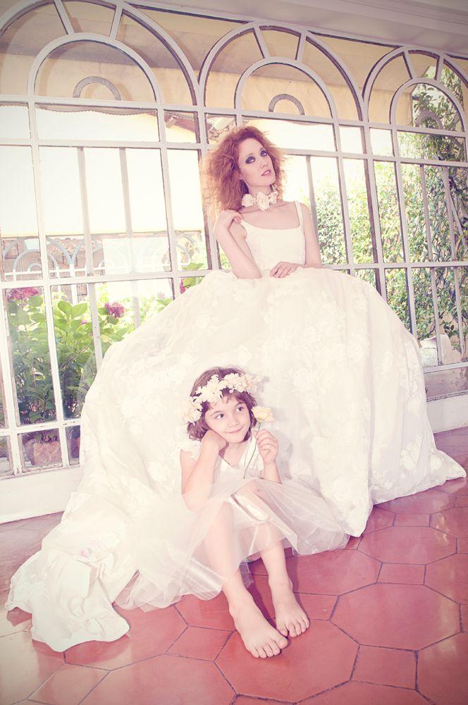 Abito Sposa e Damigella della collezione Spose Ceraunavolta di Sarah Taschin