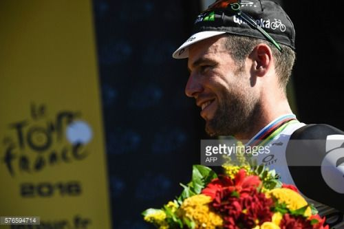 Stage winner Great Britain's Mark Cavendish celebrates on... #ossademontiel: Stage winner Great Britain's Mark Cavendish… #ossademontiel