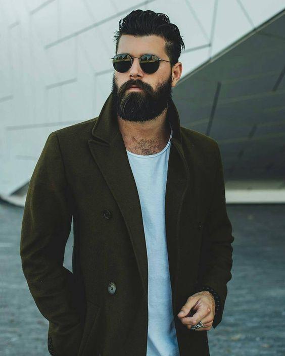 medium beard style for men #MensFashionBeard
