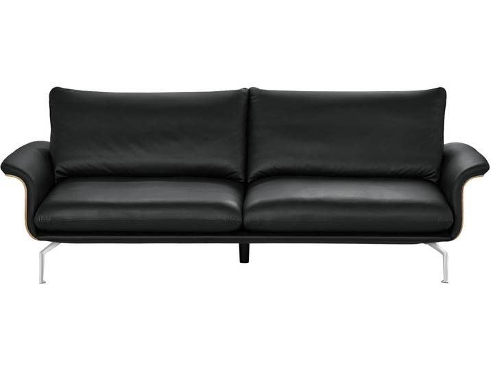 Nils Olsen Sofa Schwarz Kunstleder Leder Lina Schwarz Masse Home Decor Love Seat Furniture