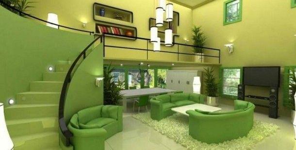 Yeşil Salon Dekorasyon Örneklerine Göz Attınız Mı ?