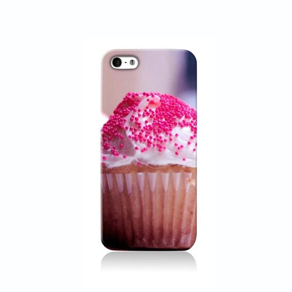 Pink Sprinkle Cupcake is available for iPhone 4/4S, iPhone 5/5s, iPhone 5c and new iPhone 6. The picture shows the design on an iPhone 5/5s case