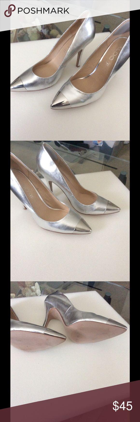 Womens Aldo pumps Womens silver on silver pump Aldo Shoes Heels