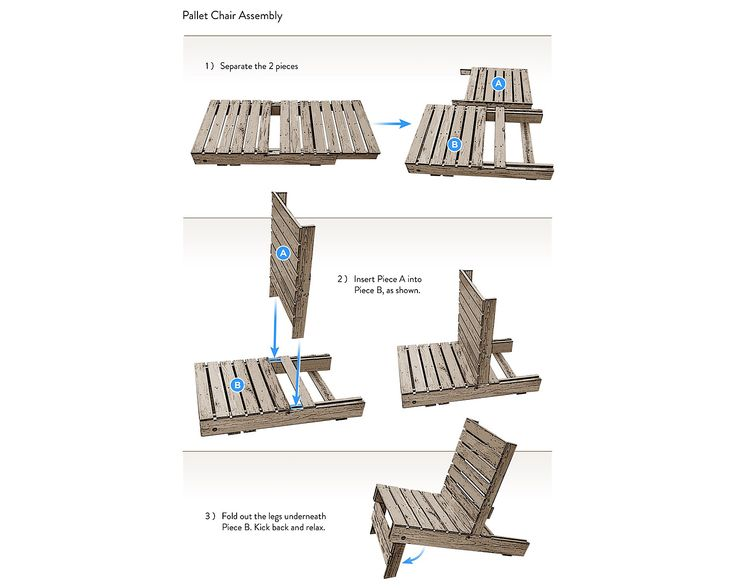 Pallet chair instructions