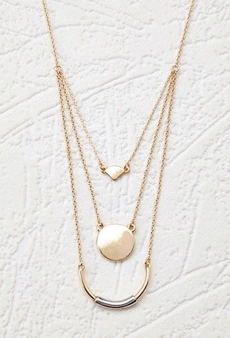Layered Geo Pendant Necklace | Forever 21 - 1000174226