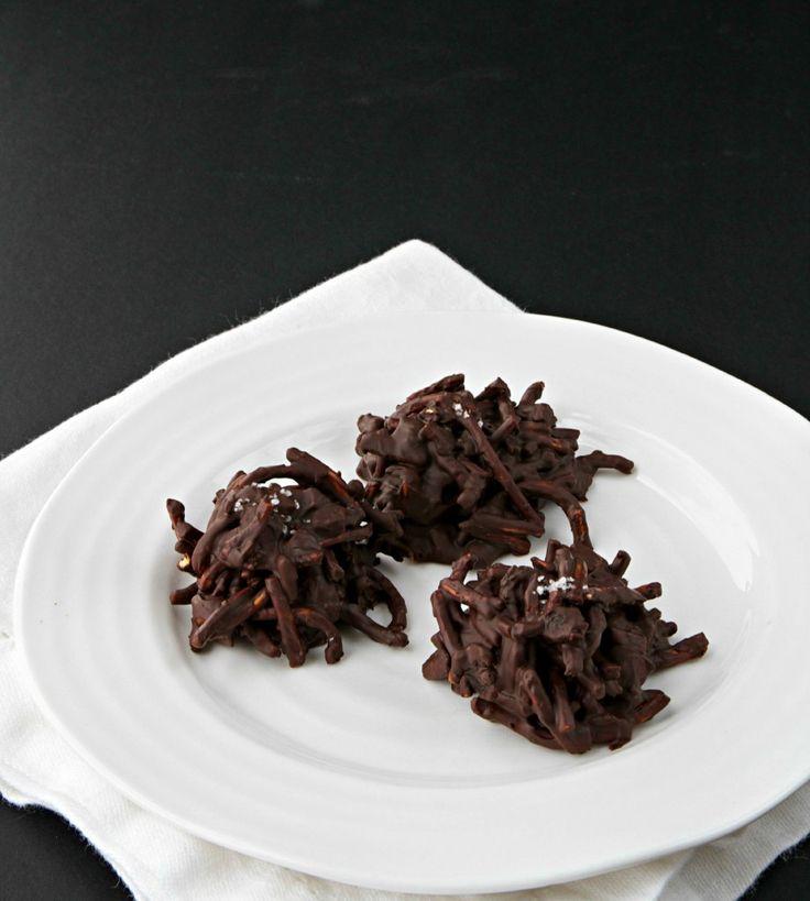 Salted Chocolate Haystack Cookies