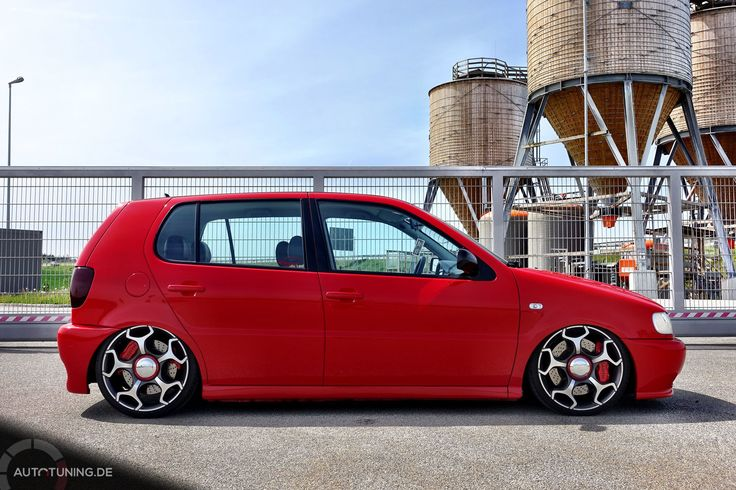 Polo 6N – The German Red Porschekiller  http://www.autotuning.de/polo-6n-the-german-red-porschekiller/ VW, VW Polo, VW Polo 6N