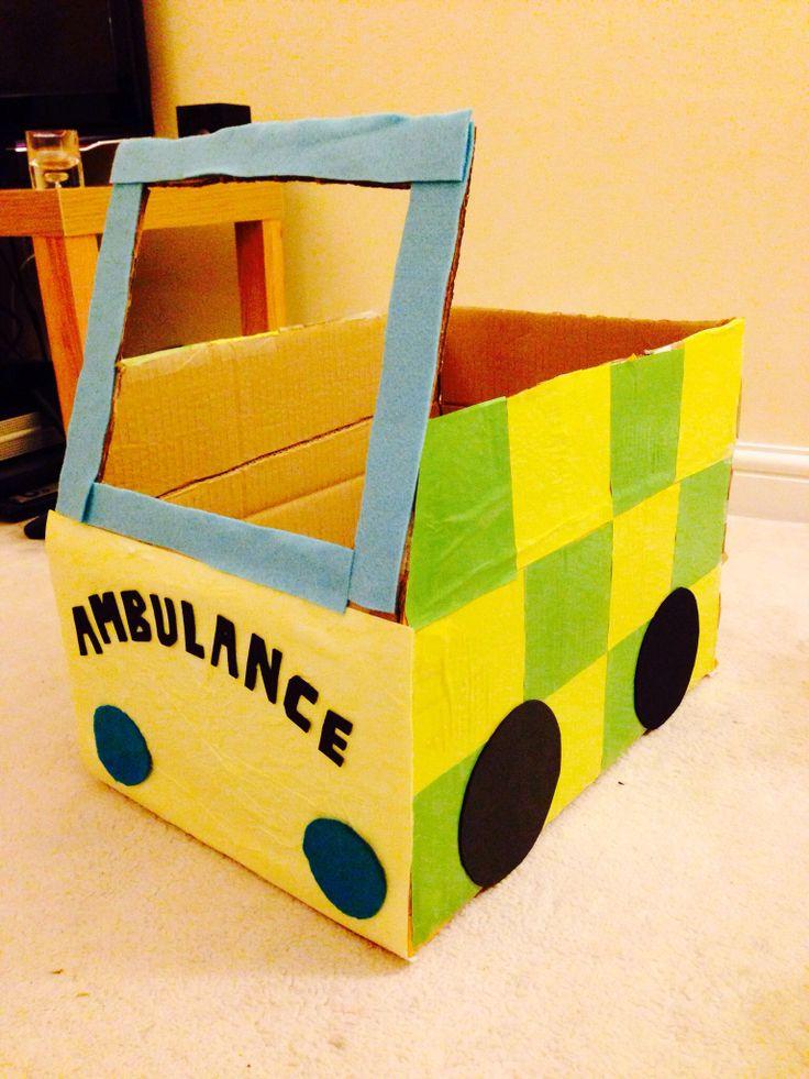 Cardboard box ambulance!