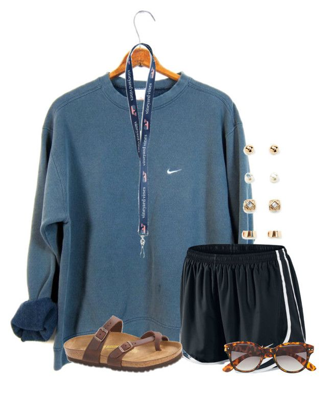 """I really want this shirt!!!"" by flroasburn on Polyvore featuring NIKE, Birkenstock, H&M and Forever 21"