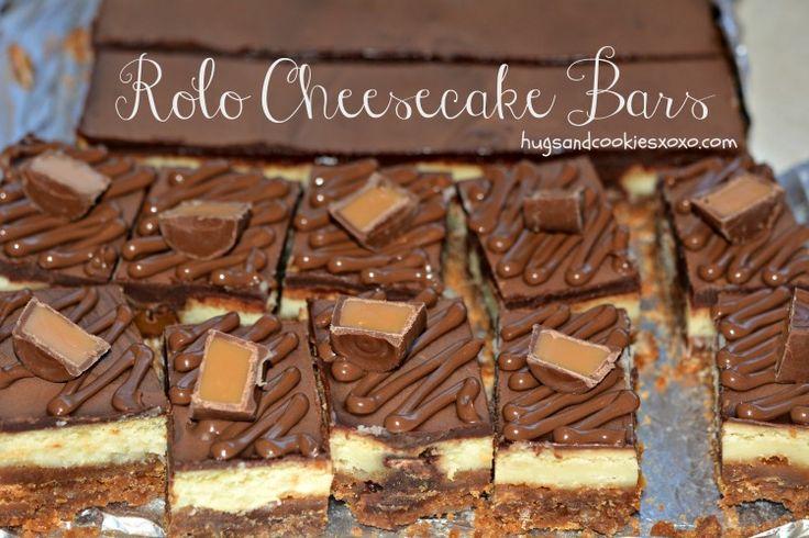Rolo Cheesecake Bars | Rolo, Cheesecake bars and Graham cracker crumbs