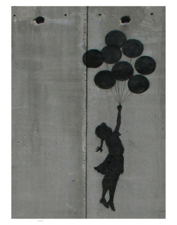 This is by Banksy - I'm going to paint this somewhere at my new place...maybe as part of an entire wall of silhouettes, or maybe in a discreet corner...