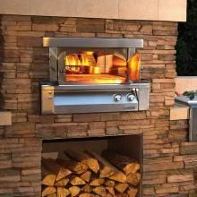 Alfresco 30-Inch Built-In Propane Gas Outdoor Pizza Oven...