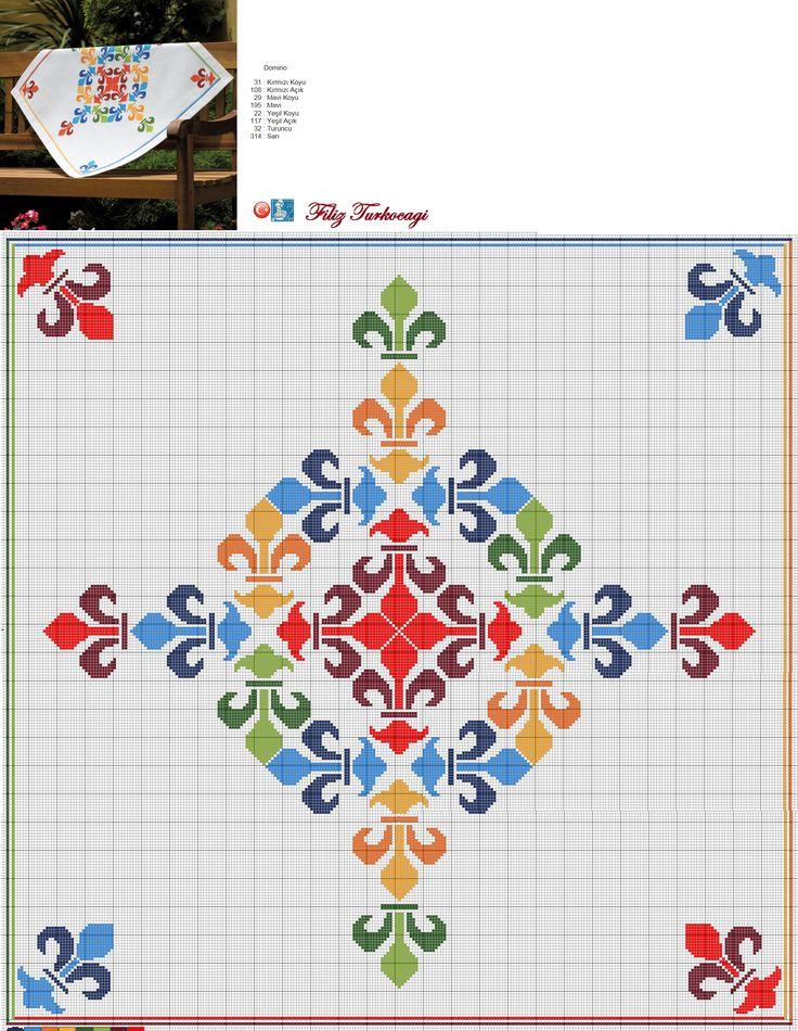 Tahta masaya da yedek örtü gerekli :) Designed and stitched by Filiz Türkocağı...