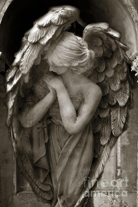Angel Photography - Dreamy Spiritual Angel Art - Guardian Angel Art In Prayer…