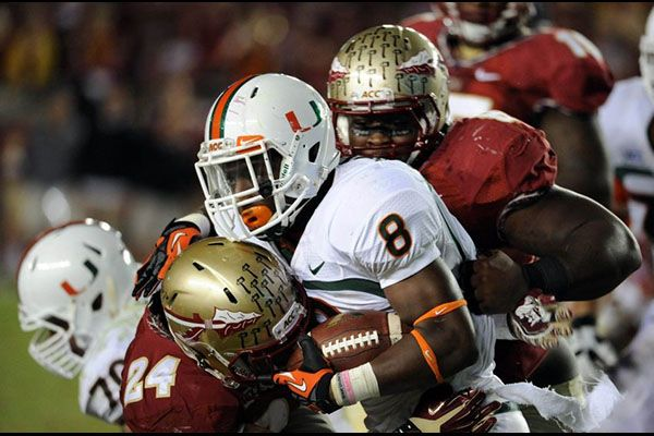 Miami Hurricanes at #11 Florida State Seminoles, Huge rivalry http://www.eog.com/ncaaf/miami-hurricanes-at-11-florida-state-seminoles-huge-rivalry/