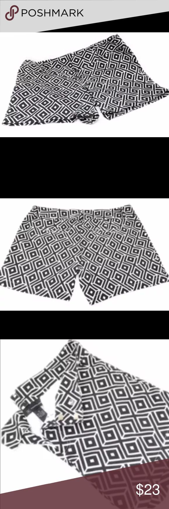 "INC Women's Shorts Black White Belt Loops Size 10 INC Women's Shorts Black White Belt Loops Size 10 International Concepts. 	 	•	Size 10 	•	Black and White print design 	•	Belt loops 	•	Length - 14"" 	•	Inseam - 5"" 	•	Rise - 8"" 	•	98% Cotton and 2% Spandex. Some pilling in the inside crease area. Not very noticeable.? INC International Concepts Shorts"