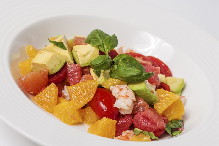 Citrus and shrimp salad