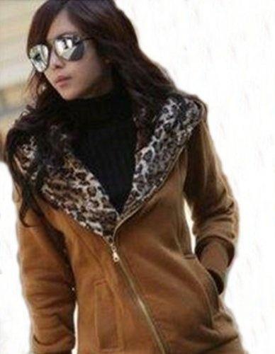 Women's Hoodie Coat Sweatshirt Jacket Warm Outerwear (M, Multi)
