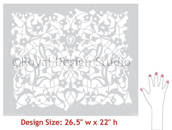 On Pinterest Damasks Wall Stencil Patterns And Stencil Patterns