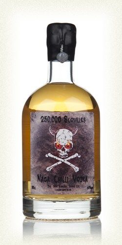 250,000 Scovilles - Naga Chilli Vodka 50cl One day, I'll have this on a shelf. I'll have someone drink it one day. -John
