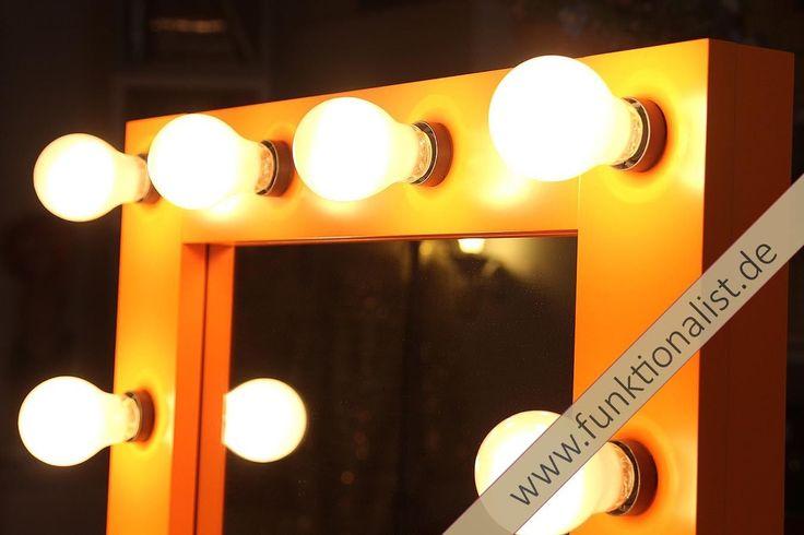 Theaterspiegel,Hollywoodspiegel, Schminkspiegel, Visagistenspiegel, mit Farbwahl in Möbel & Wohnen, Beleuchtung, Sonstige   eBay!
