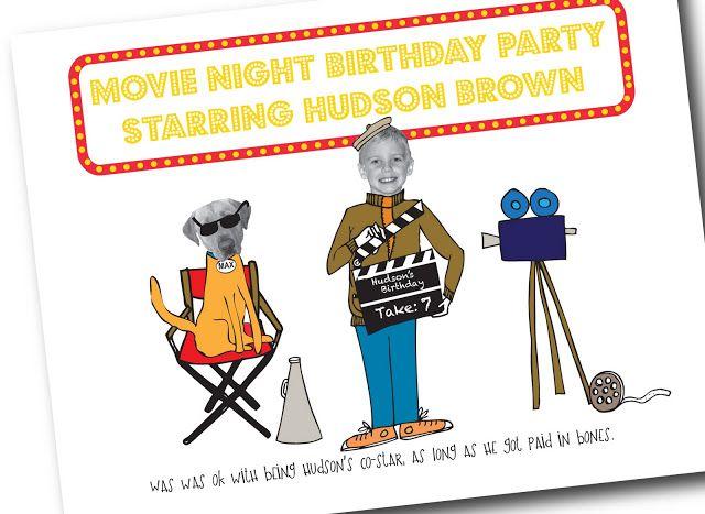 Cute movie party invitation
