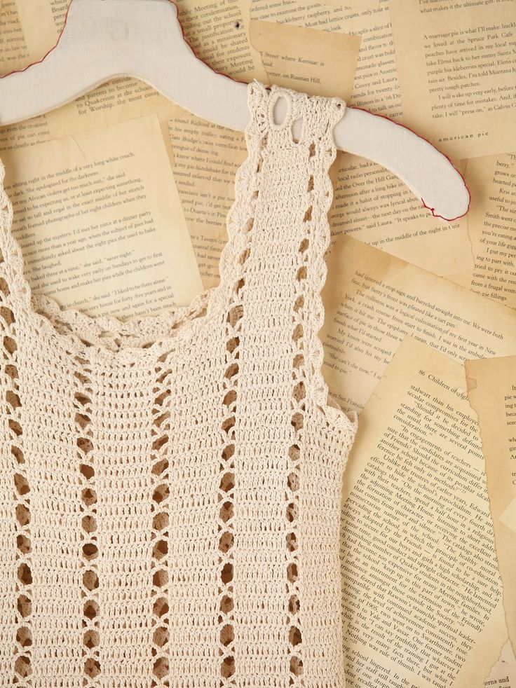 Easy Crochet Tank Top Patterns | Free People Vintage Crochet Mini Dress. Simple patterns that can be ...