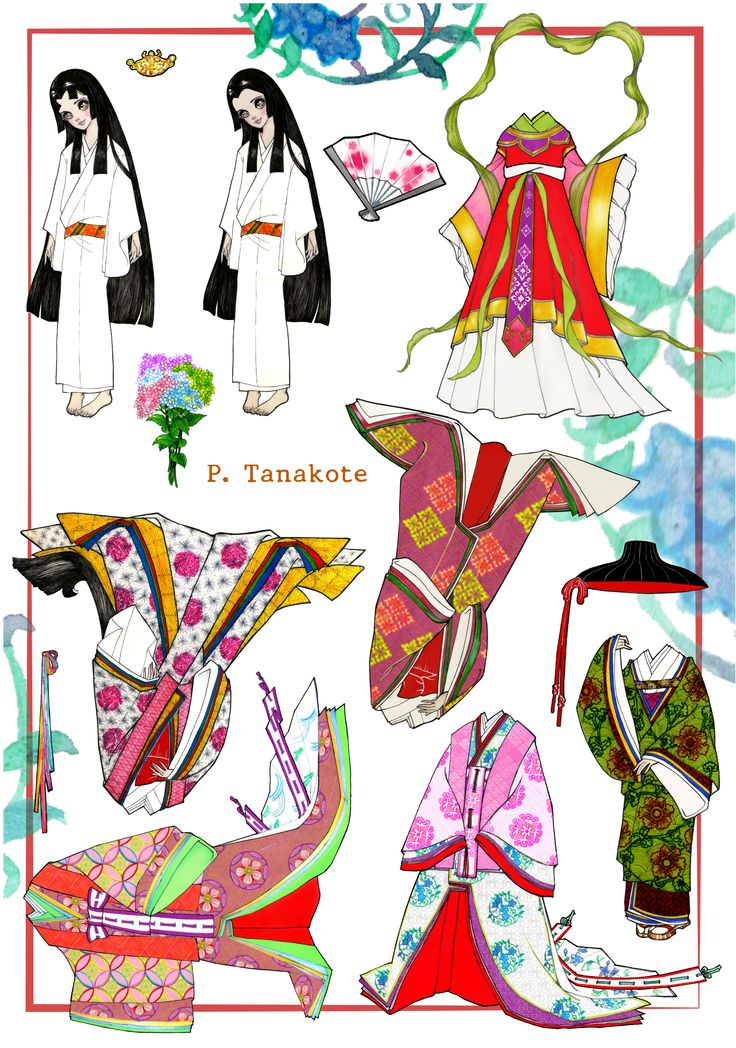 Japanese paper doll | Paper dolls Japan, China, Korea ...
