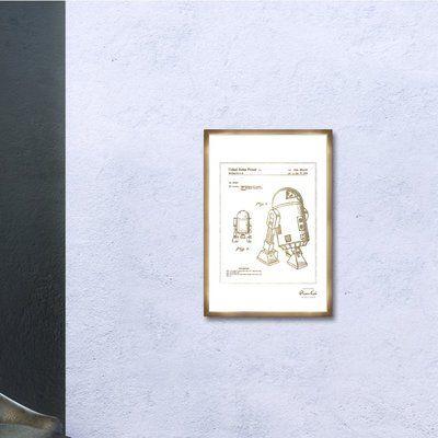 Trent Austin Design 'Robot II 1979' Framed Print in Gold Frame Color: Bronze