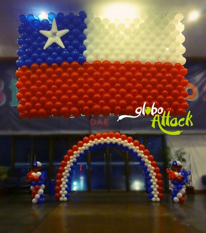 Bandera fiestas patrias