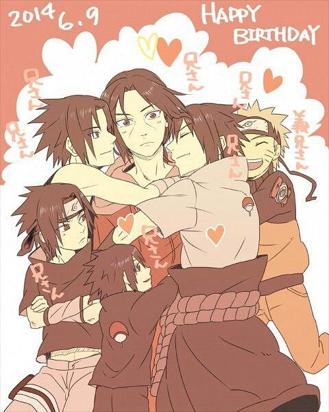 Happy birthday Itachi, Sasuke, different ages, Naruto; Naruto