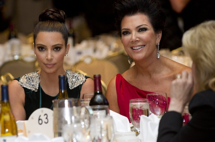 Kim Kardashian and Kris Jenner at WH Correspondents Dinner 2012