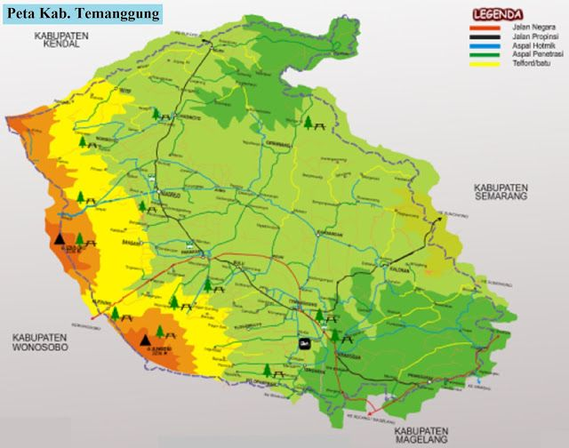 Peta Kabupaten Temanggung Gambar Peta Legenda