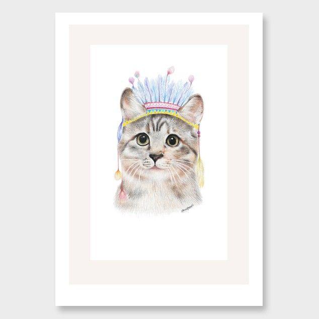 Chief Kitty Art Print by Olivia Bezett