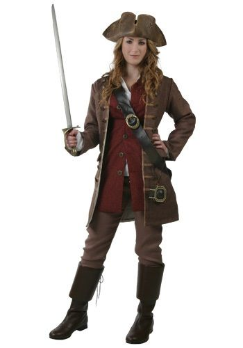 Pirate costume!!  now THIS is something work appropriate, comfortable, it even has pants, instead of a skirt!