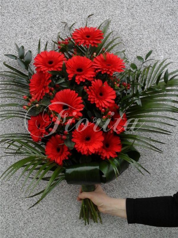 Smuteční kytice z gerber