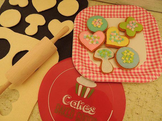 Felt Food Baking Gift Birthday Gift Felt Cookies eco