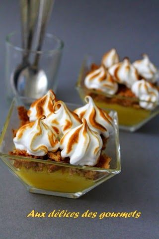 Aux délices des gourmets: VERRINES CITRON MERINGUÉ