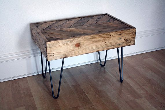 Herringbone Dining Room Tables Made From Pallets