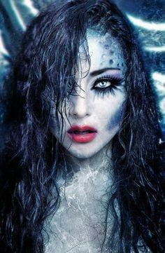 Evil Mermaid makeup                                                       …