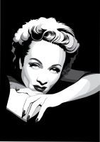 Marlene Dietrich by pin-n-needles