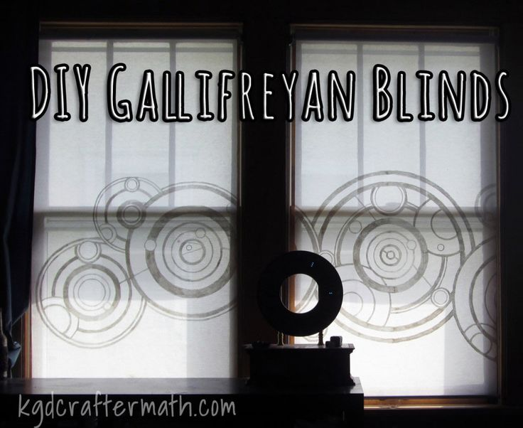 DIY Doctor Who Gallifreyan Blinds