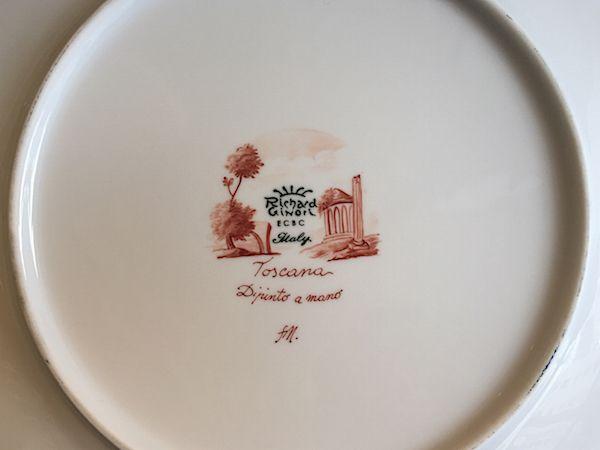 Richard Ginori hand painted plate