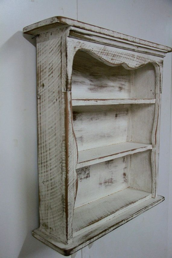 Shabby style wall shelf primitive wall shelf by LynxCreekDesigns