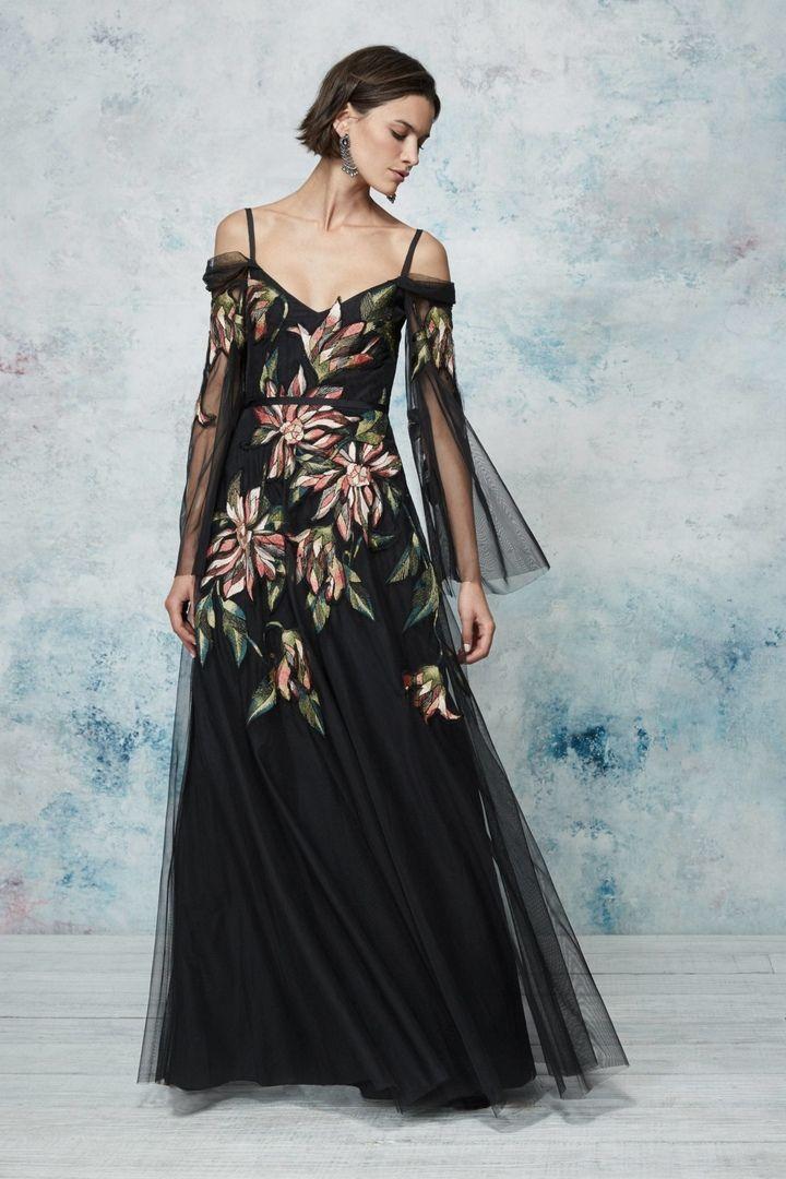 f1070e1c9a6 Новая коллекция прекрасных коктейльных и вечерних платьев весна-лето 2019  Marchesa Notte.