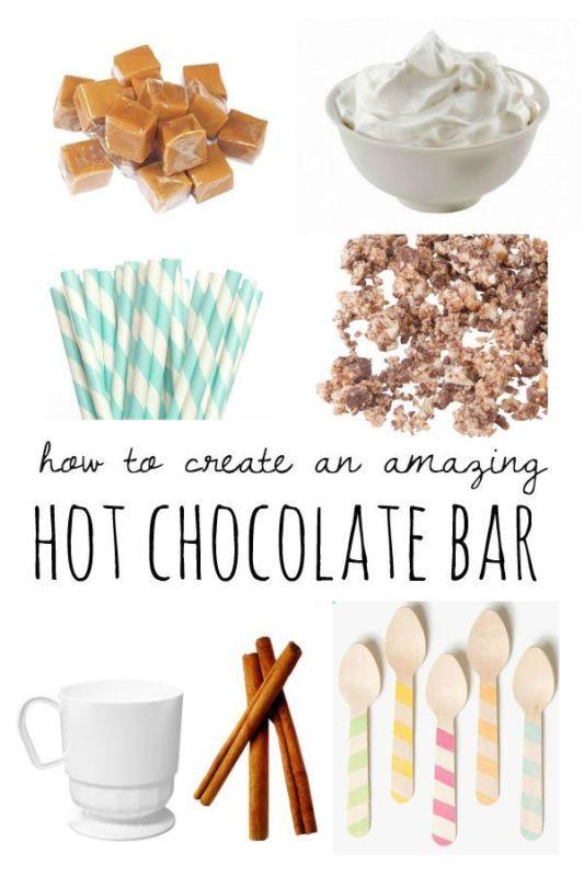 How to Create an Amazing Hot Chocolate Bar! Fun fall party idea!