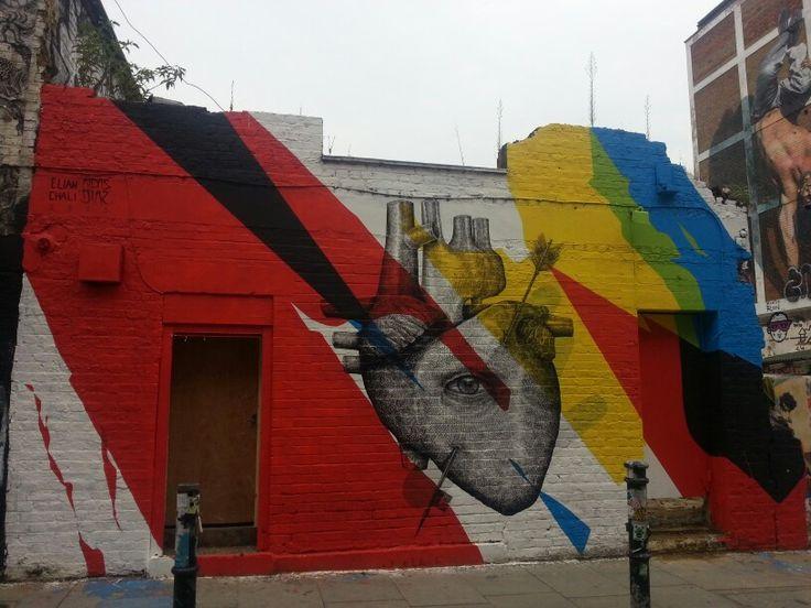 Heart on Hanbury street, London.