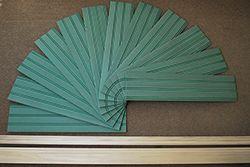 "American Beadboard 8 foot kits consist of twelve 8"" wide moisture resistant beadboard panels, a solid poplar top cap chair rail molding and a solid poplar base board molding"
