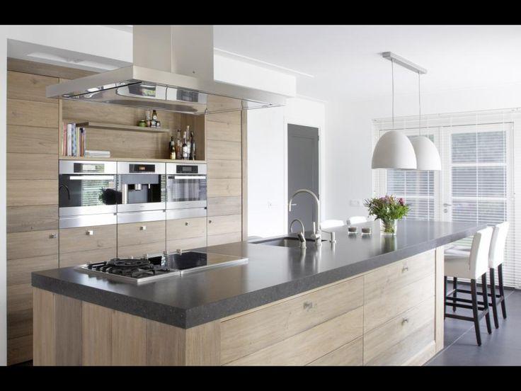 Landelijk modern tinello keukeninspiratie pinterest rustic modern design and modern - Moderne keuken en woonkamer ...